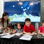 Smartizen Park 2019: Kids color their own fishes and scan them into life with AR Aquarium